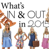 What's IN and OUT in 2015