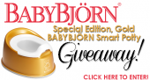 {Giveaway: Special Edition, Gold BABYBJÖRN Smart Potty!}