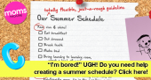 Do you need help creating a Summer Schedule?