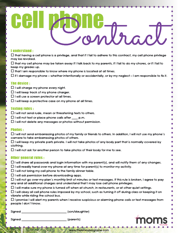 Click Here For A Printable Version!  Printable Contracts